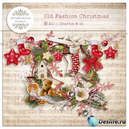 Новогодний скрап-комплект - Старомодное Рождество