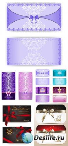 Новогодние подарочные карточки и баннеры в векторе 4