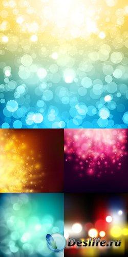 Цветные абстрактные фоны в векторе 6