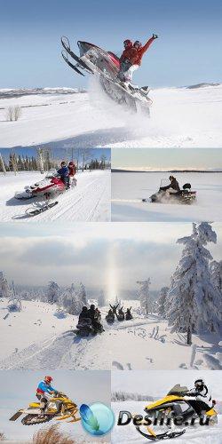 Растровый клипарт - Снегоход