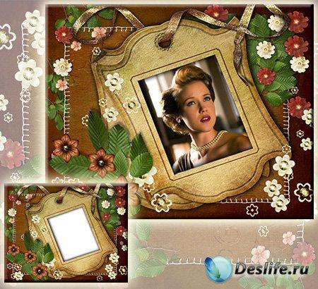 Винтажная рамка для фотографии - Ретро стиль