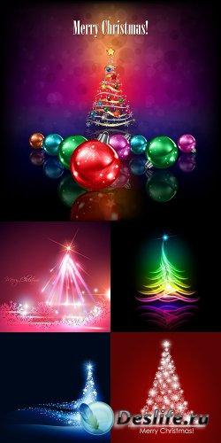 Векторный клипарт - Новогодняя ёлка