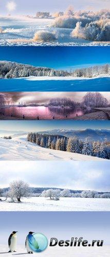 Зимние панорамные фото