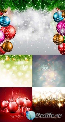 Новогодние фоны в векторе 10
