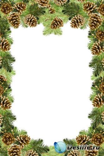Рамка для семейного фото - Новый год пахнет сосной