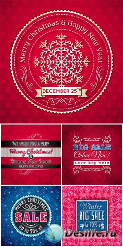 Christmas vector winter sales, backgrounds