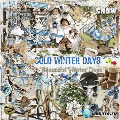 Зимний скрап-комплект - Холодные зимние дни
