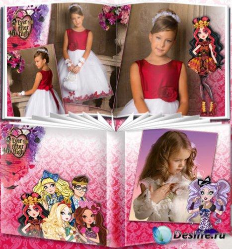 Фотоальбом для девочек с персонажами мультсериала Эвер Афтер Хай