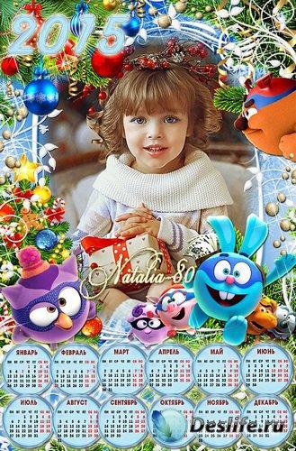 Детский праздничный календарь-рамка на 2015 год  - Отмечаем Новый год со См ...