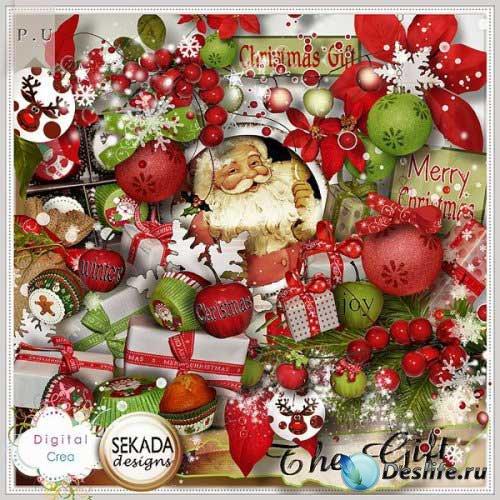 Новогодний скрап-комплект - Подарок