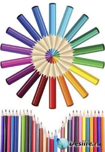 Мега-подборка изображений цветных карандашей (клипарт)
