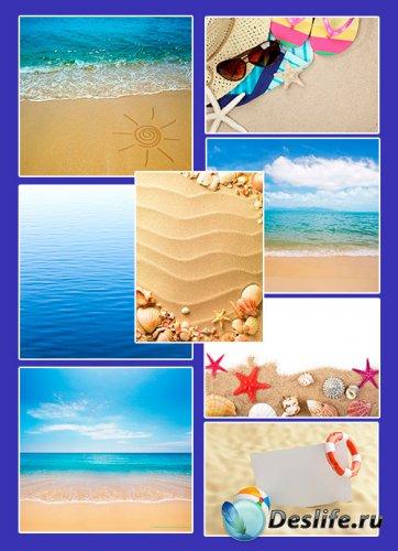 Море, пляж - фотоклипарт