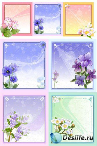 Фон с цветами в векторе (подборка отрисовок)