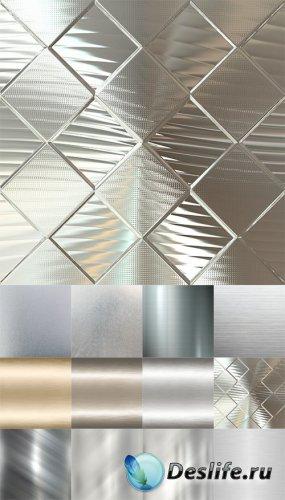 Серебряные и хромовые фоны - растровый клипарт