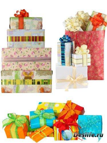 Коробки с подарками (подборка изображений)