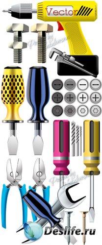 Подборка векторного клипарта – Инструменты для настоящего мужчины