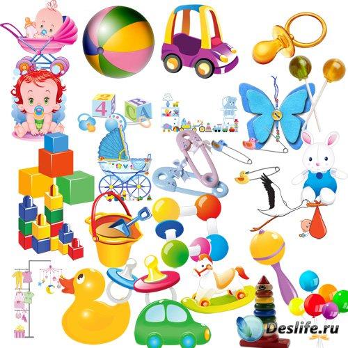 Клипарт - Детские предметы и игрушки
