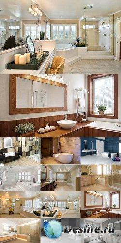 Интерьер для ванной комнаты - растровый клипарт