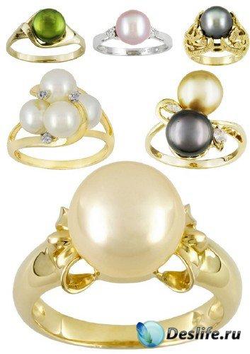 Ювелирные украшения: Кольца и перстни украшенные жемчугом (подборка изображ ...