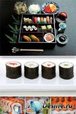 Японские суши и роллы (подборка изображений)