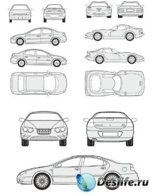 Автомобили Chrysler - векторные отрисовки в масштабе