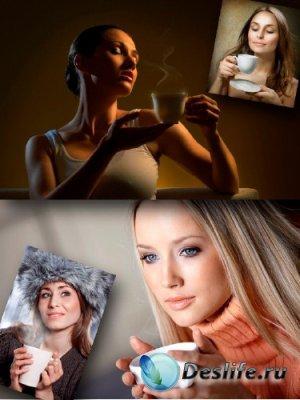 Девушка и чашка чая (подборка изображений)