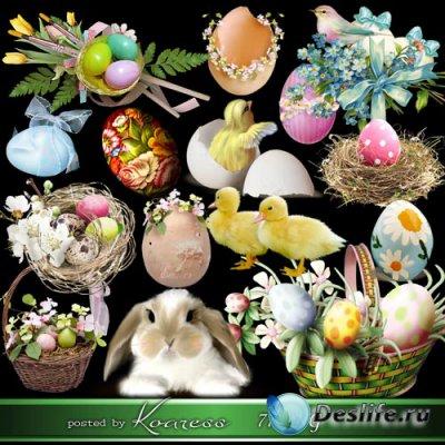 Пасхальный клипарт - цветы, кластеры, яйца, кролики - Пусть Пасхальное воск ...