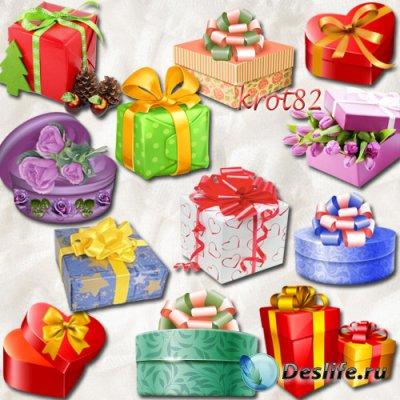 Клипарт на прозрачном фоне  – Подарки