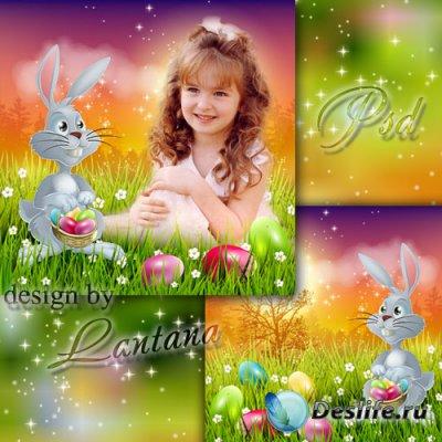 Psd исходник для детей - Пасхальный кролик