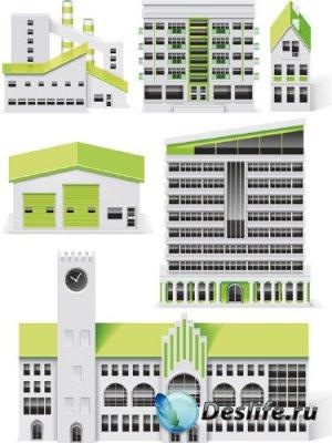 Архитектурные строения и сооружения (вектор)