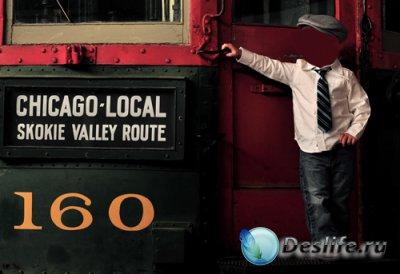 Костюм для фотошопа  - Мальчик на поезде