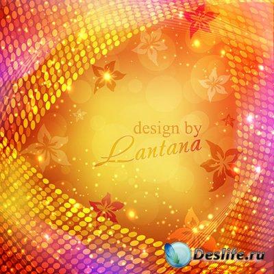 PSD исходник - Солнца рыжие блики, словно яркое пламя огня
