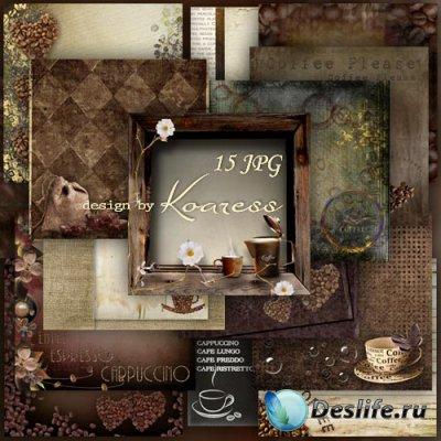 Кофейные jpg фоны для дизайна
