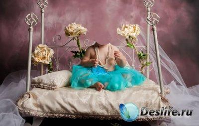 Шаблон для фотошопа  - Маленькая красавица