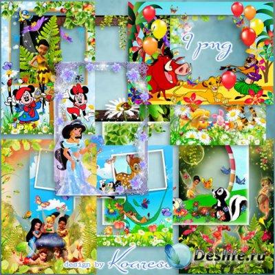 Набор детских рамок для фото - Мир добрых мультиков Диснея (часть 1)