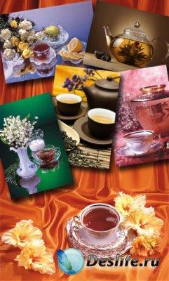 Чай и традиционное чаепитие (подборка клипарта)