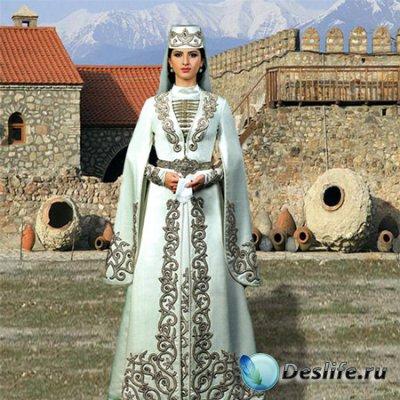 Шаблон  детский - Грузинский национальный костюм