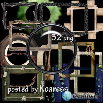 Клипарт для дизайна - Оригинальные рамки на прозрачном фоне
