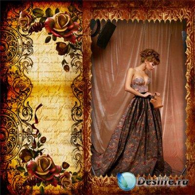 Рамка женская – О чём шепчут розы