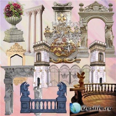 Архитектурные элементы - клипарт в png