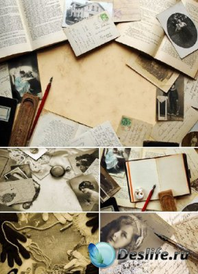 Ретро фото и письменные принадлежности