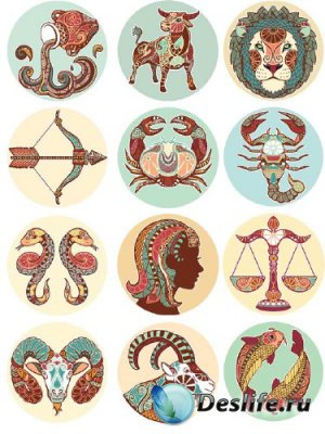 Знаки зодиака (подборка вектора) третья часть