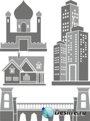 Архитектурные строения и сооружения (вектор) часть третья