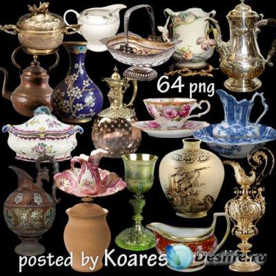Старинная и винтажная посуда - вазы, тарелки, чашки, кувшины, чайники на пр ...