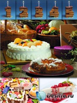 Десерт: Торт, кусочек торта (подборка изображений)