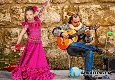 Шаблон  детский - Фламенко