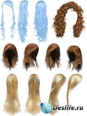 Парик (искусственные волосы) прозрачный фон