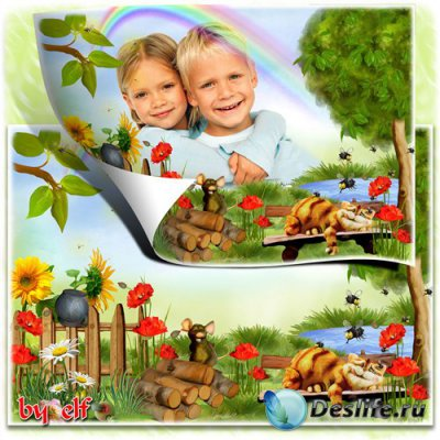 Детская рамка для фото – Хорошо в деревне летом