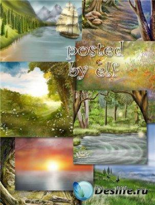 Пейзажные фоны