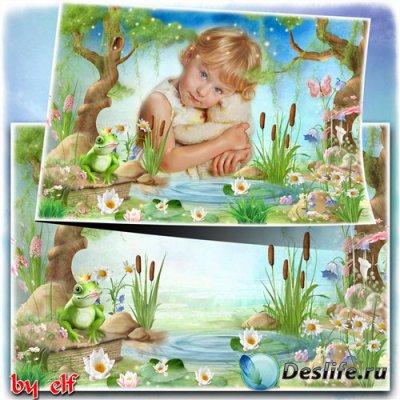 Детская сказочная рамка с царевной лягушкой